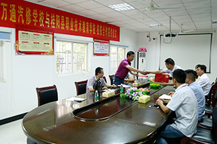 校校合作,桂阳职业技术教育学校来校签约
